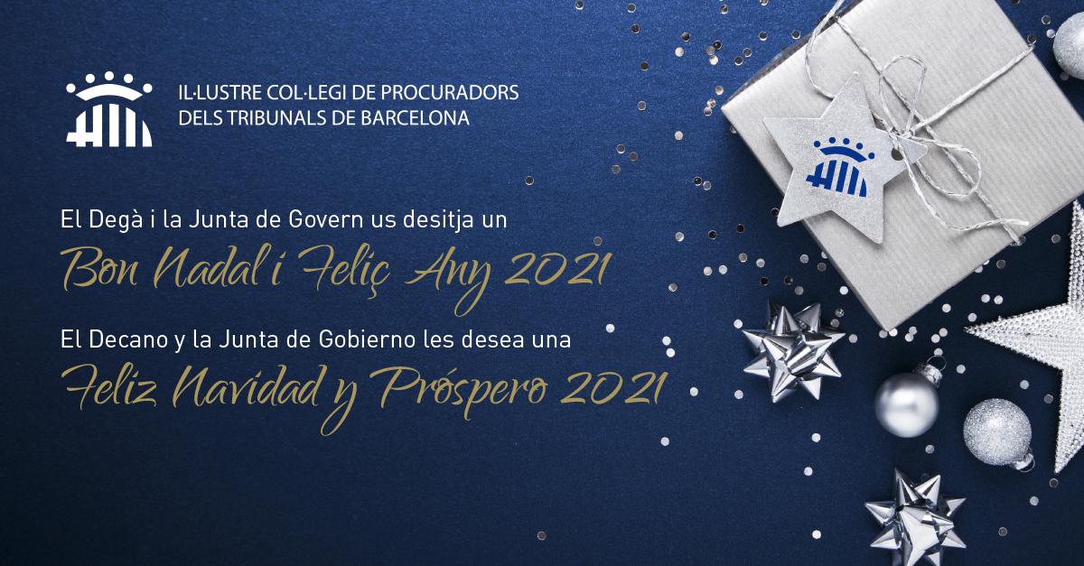 Us desitgem un Bon Nadal i Feliç 2021!